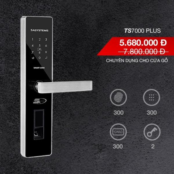 khóa vân tay TS 7000 Plus thực tế