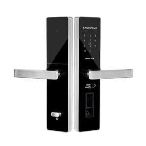 khóa vân tay cửa gỗ TS7000 silver